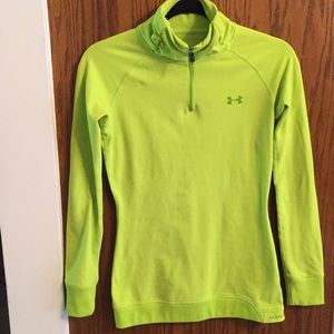 Underarmour sweater, gently used SM/P Lime/green